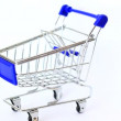 Shopping cart with paper money — Stock Video #69520803