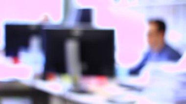 Businessmen working in office — Stock Video