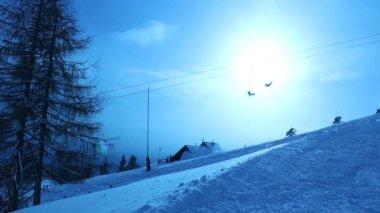 Biały Śnieg Góra — Wideo stockowe