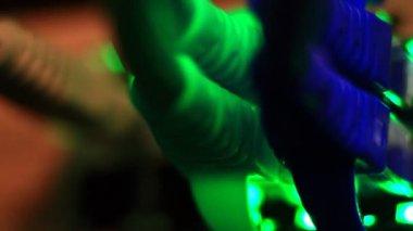 Lights on network server — 图库视频影像