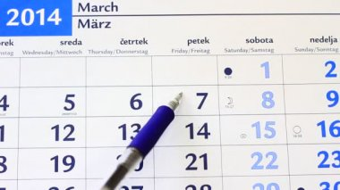 Very important dates on the calendar — Vídeo de Stock