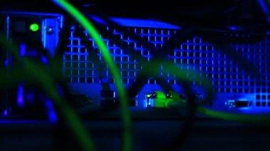 ネットワーク サーバー上の接続 — ストックビデオ