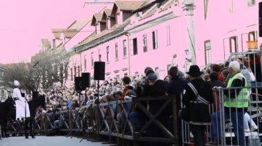 Processio Locopolitana in Slovenia — Stock Video