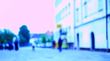 People walking on the street — Stockvideo