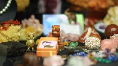 Souvenir shop counter — Stock Video