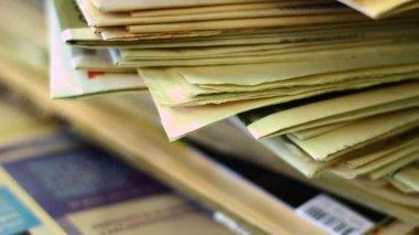 Kupie dokumenty i biuro — Wideo stockowe