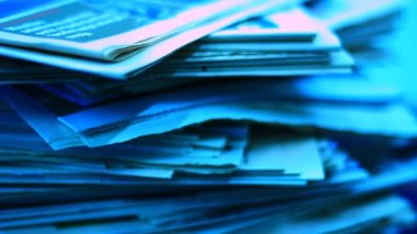 Pile of documents and office papers — Stock Video