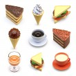 Food icons of ice-cream — Stock Photo #69607581