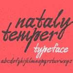 Handwritten expressive font — Stock Vector #69604629