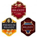Premium brandy labels — Stock Vector #69607093