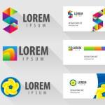 Set of logo design elements — Stock Vector #69607135