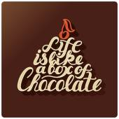 Life is like a box of chocolate. — Vetor de Stock