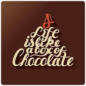 Life is like a box of chocolate. — Stock vektor