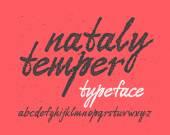 Handwritten expressive font — Stok Vektör