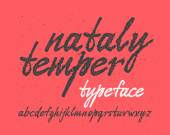 Handwritten expressive font — Cтоковый вектор