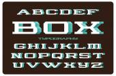 Font with spray filled side — Vecteur