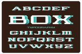 Font with spray filled side — Stok Vektör