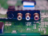 Sound card inputs — Stock Photo