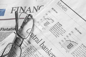 Stock Markets Newspapers. — Stock Photo