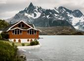 Lake Pehoe, Torres Del Paine National Park, Patagonia, Chile — Stock Photo