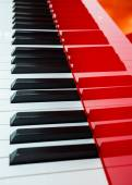 Background of red piano — Stock Photo