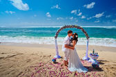 Wedding couple just married — Stock Photo