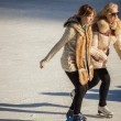 Two girls of teenagers on the ice — Foto de Stock   #74378019