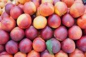 Frische pfirsiche. — Stockfoto