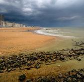 Coastline of Belgium resort Oostende — Stock Photo