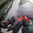 Overnight in tent camp. — Stock Photo #78454350
