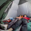 Overnight in tent camp. — Stock Photo #78454356