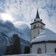Church near the Grindelwald ski area. Swiss alps at winter — Stock Photo #79801932