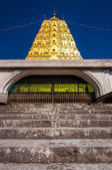 Golden Bodh Gaya pagoda with blue sky in district Sangkhlaburi, — Stock Photo
