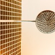 Stainless shower in a low angle — Stock Photo #71208739