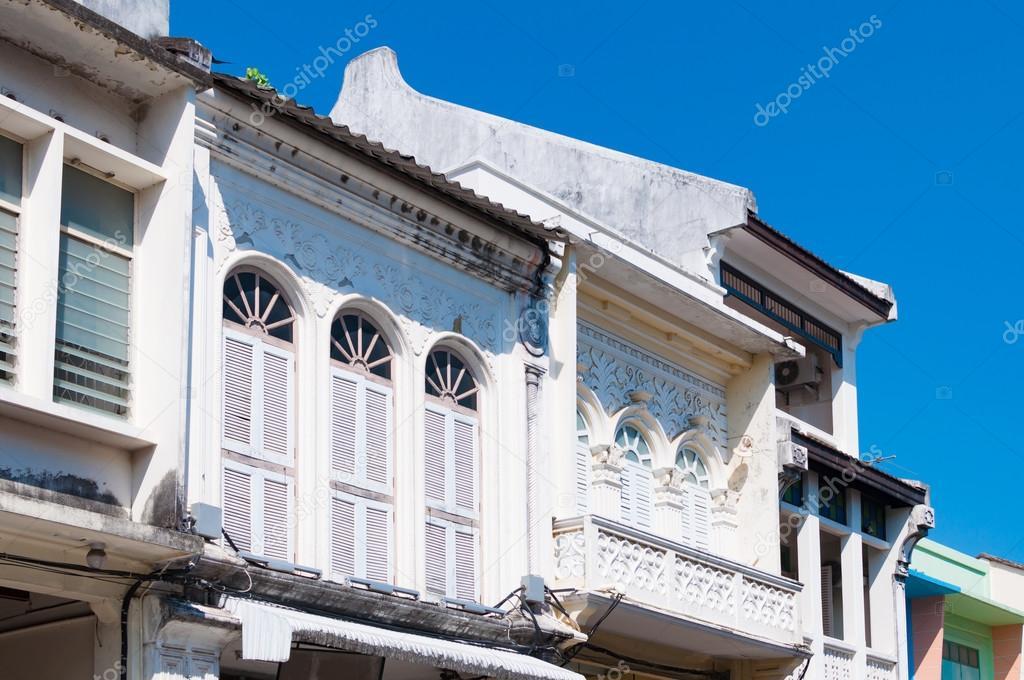 旧市街、タイ プーケット Sino ポルトガル建物 \u2014 ストック写真 98371674