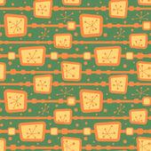 Retro TV screens  pattern — Stock Vector