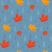 Autumn rain pattern — Stock Vector