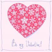"""Be my Valentine"" postcard — Stock Vector"