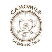 Chamomile organic tea — Stock Vector