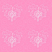 Valentine's day pattern — Stock Vector