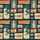 Acoustic guitar pattern — Stock Vector