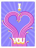 Cartão de dia dos namorados. — Vetor de Stock