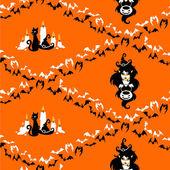 Halloween seamless pattern. — Stock Vector