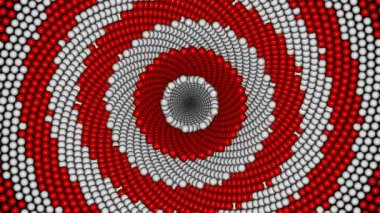 Animated kaleidoscopic spiral — Wideo stockowe