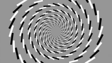 Rotating concentric circles in quasi spiral — Stock Video
