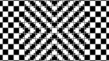 Distorted checkered graphic — Stock Video