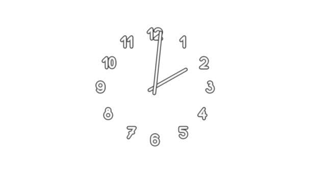 Clockn8-02-wb — Vídeo de stock