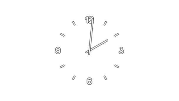 Clockn8-03-wb — Vídeo de stock