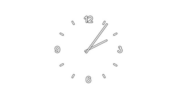 ClockN8-03-wc — Vídeo de stock