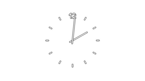Clockn8-04-wb — Vídeo de stock